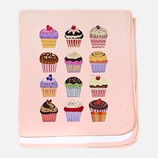 Dozen of Cupcakes baby blanket