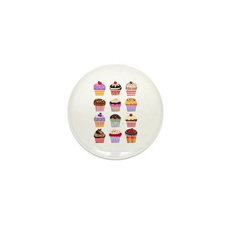 Dozen of Cupcakes Mini Button