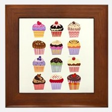 Dozen of Cupcakes Framed Tile