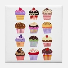 Dozen of Cupcakes Tile Coaster