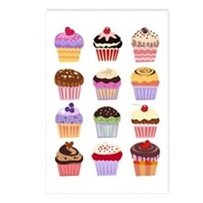 Dozen of Cupcakes Postcards (Package of 8)