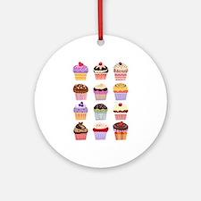 Dozen of Cupcakes Ornament (Round)