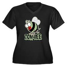 Zom-Bee! Women's Plus Size V-Neck Dark T-Shirt