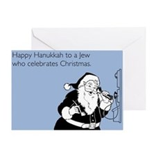 Jew Who Celebrates Christmas Greeting Card