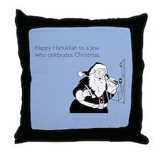 Jew Who Celebrates Christmas Throw Pillow