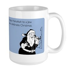 Jew Who Celebrates Christmas Large Mug