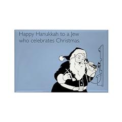 Jew Who Celebrates Christmas Rectangle Magnet