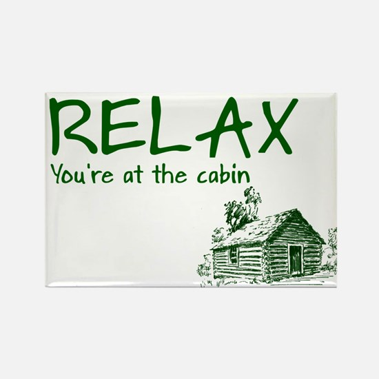 Relax Cabin Cottage Rectangle Magnet