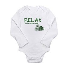 Relax Cabin Cottage Long Sleeve Infant Bodysuit