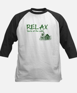 Relax Cabin Cottage Kids Baseball Jersey