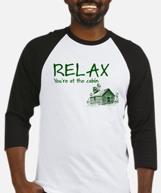 Relax Cabin Cottage Baseball Jersey