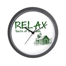 Relax Cabin Cottage Wall Clock
