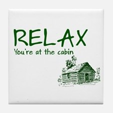 Relax Cabin Cottage Tile Coaster