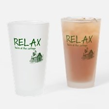 Relax Cabin Cottage Drinking Glass