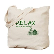 Relax Cabin Cottage Tote Bag