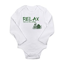 Relax Cabin Cottage Long Sleeve Infant Bodysuit