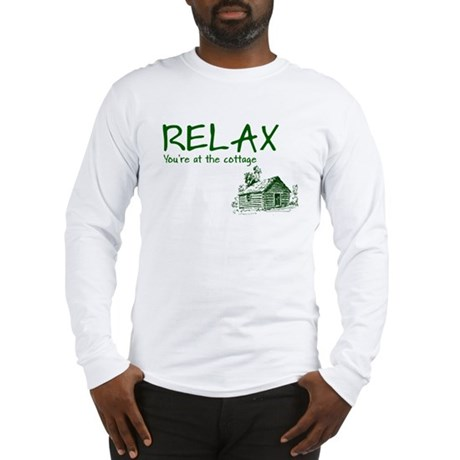 Relax Cabin Cottage Long Sleeve T-Shirt