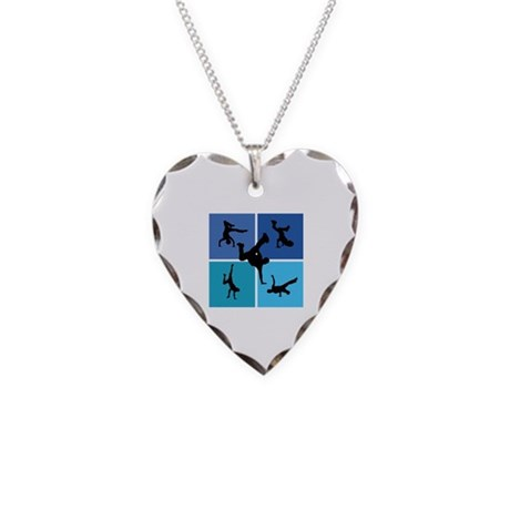Nice various breakdancing Necklace Heart Charm
