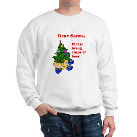 Santa Bring Chips & Beer Sweatshirt