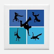 Nice various breakdancing Tile Coaster
