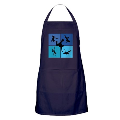 Nice various breakdancing Apron (dark)