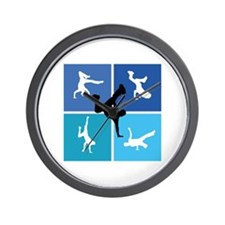 Nice various breakdancing Wall Clock
