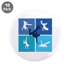 """Nice various breakdancing 3.5"""" Button (10 pack)"""