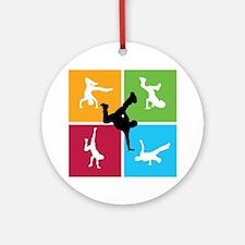 Nice various breakdancing Ornament (Round)