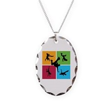 Nice various breakdancing Necklace Oval Charm