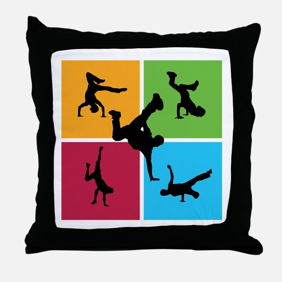 Nice various breakdancing Throw Pillow