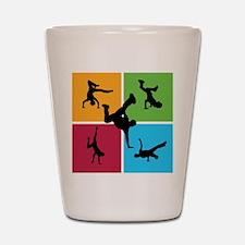 Nice various breakdancing Shot Glass