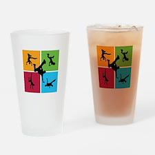 Nice various breakdancing Drinking Glass