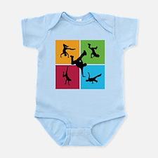 Nice various breakdancing Infant Bodysuit