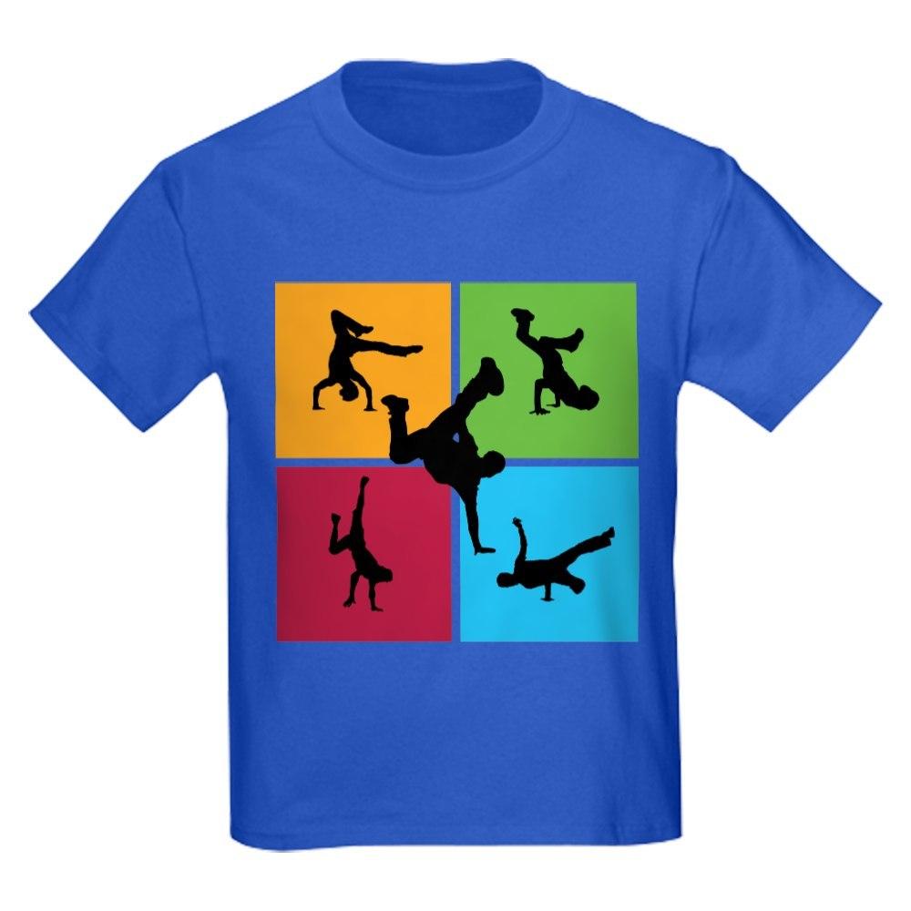 CafePress Nice various breakdancing Kids Dark T-Shirt