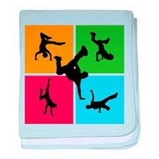 Nice various breakdancing baby blanket