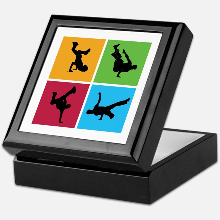 Nice various breakdancing Keepsake Box