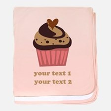 PERSONALIZE Chocolate Cupcake baby blanket