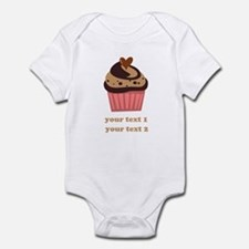 PERSONALIZE Chocolate Cupcake Infant Bodysuit