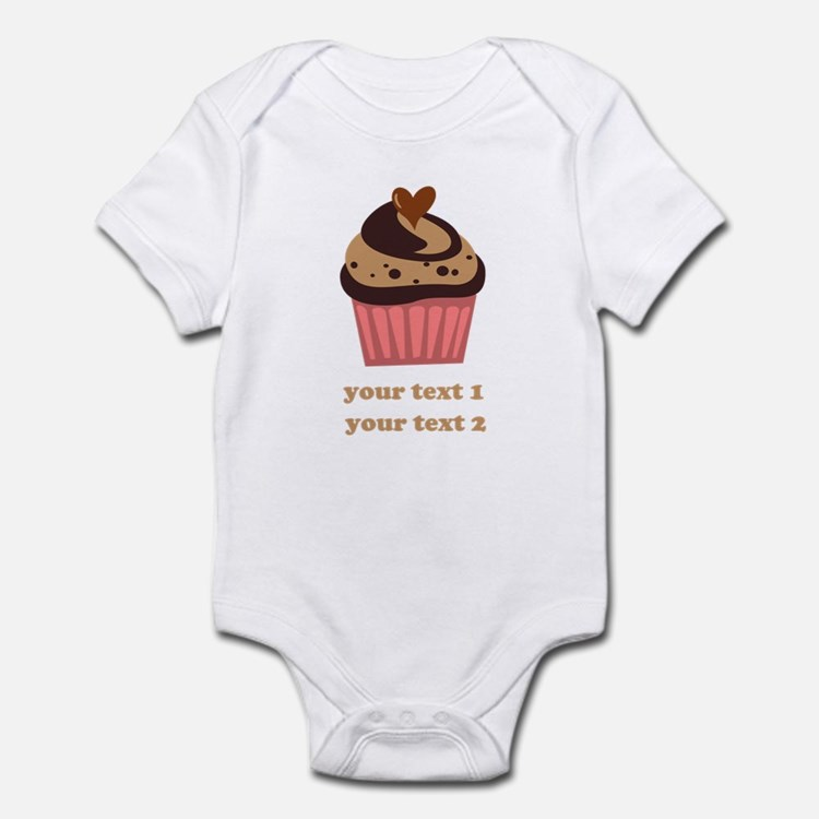 PERSONALIZE Chocolate Cupcake Onesie
