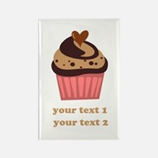 PERSONALIZE Chocolate Cupcake Rectangle Magnet (10