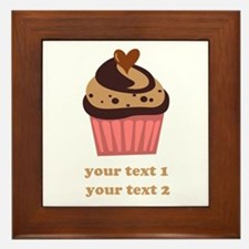 PERSONALIZE Chocolate Cupcake Framed Tile