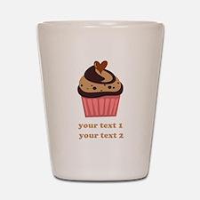 PERSONALIZE Chocolate Cupcake Shot Glass