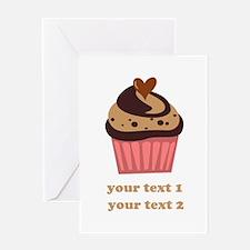PERSONALIZE Chocolate Cupcake Greeting Card