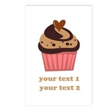 PERSONALIZE Chocolate Cupcake Postcards (Package o
