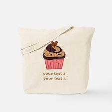 PERSONALIZE Chocolate Cupcake Tote Bag