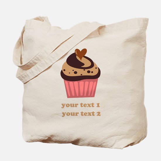 PERSONALIZE Chocolate Cupcake Tote Bag