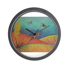 The Warmth of a Horse Wall Clock