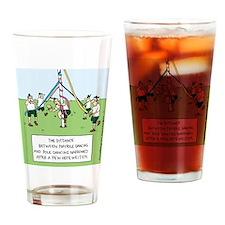 Maypole Dancing Drinking Glass
