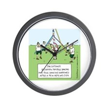 Maypole Dancing Wall Clock