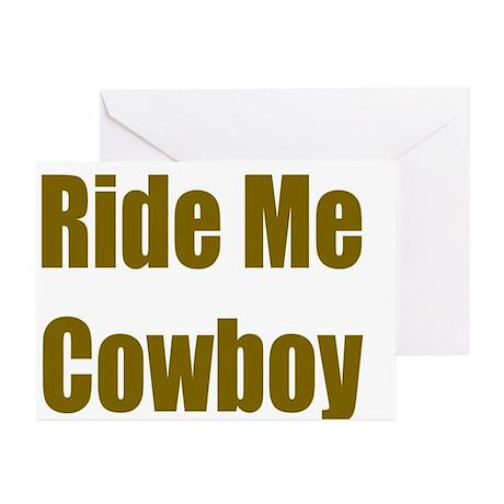 Ride Me Cowboy Greeting Cards (Pk of 10)